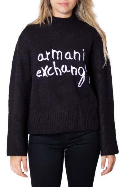 ARMANI EXCHANGE Signature Soft Knitted Sweater Damen Pullover