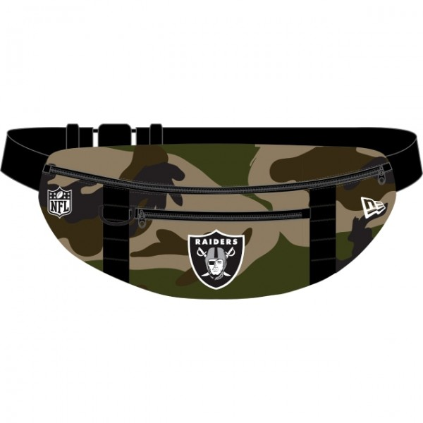 NEW ERA NFL Raiders Waist Bag Light Camouflage