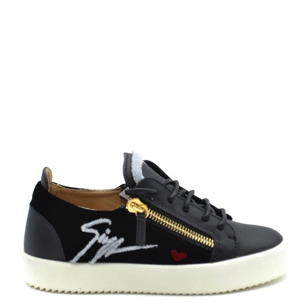 GIUSEPPE ZANOTTI Eve Leather & Fur Damen Leder Sneaker