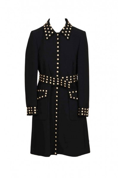 MOSCHINO Couture Coat with Studs Damen Mantel Schwarz