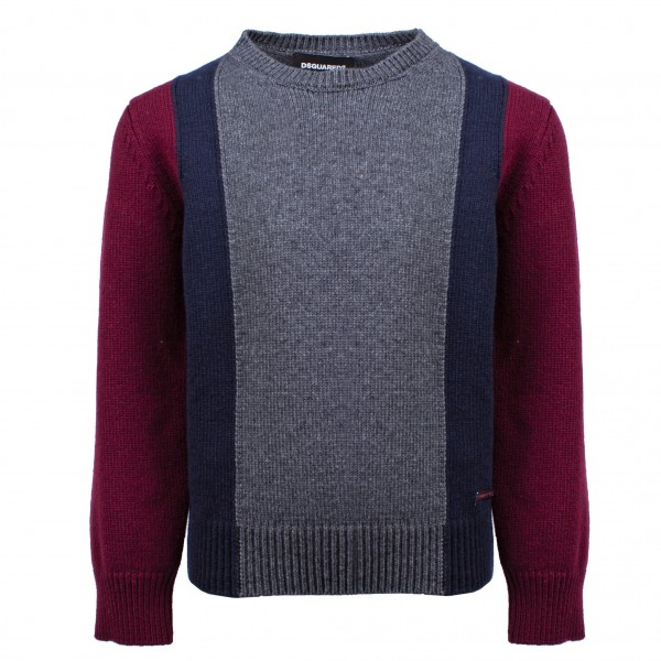 DSQUARED2 3 Color Knitted Pullover Kids