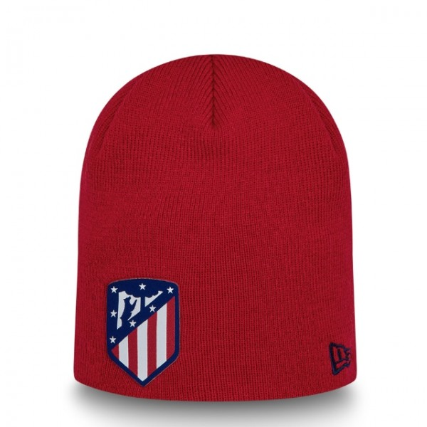 NEW ERA Atletico Madrid Skull Knit Beanie One Size Rot