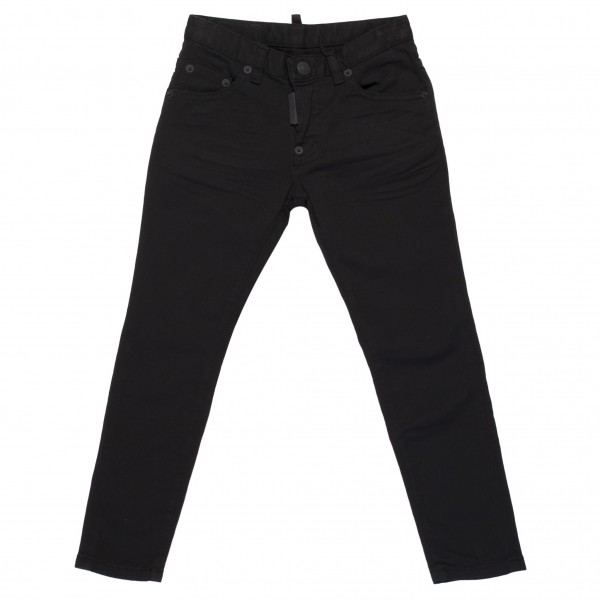 DSQUARED2 All Black Classic Denim Jeans Kids