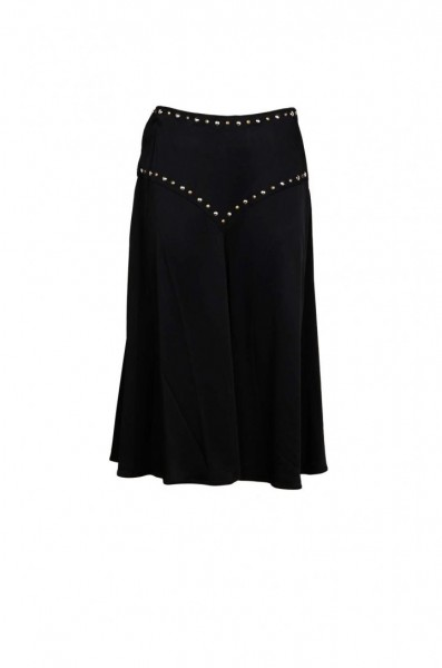 MOSCHINO Couture Skirt with Studs Damen Rock Schwarz