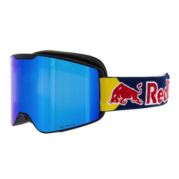 RED BULL SPECT Tranxformer Skibrille Goggles Black / Blue Snow Smoke w Blue Mirror RAIL-001