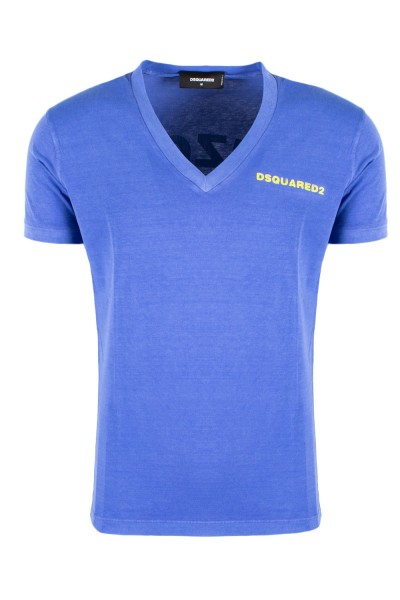 DSQUARED2 Arizona Print Tee Herren T-Shirt Blau