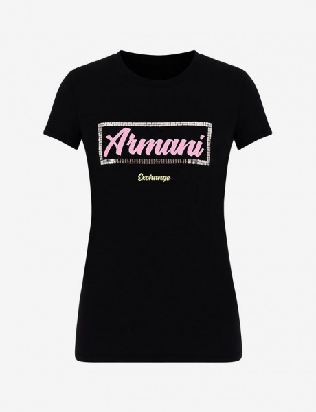 ARMANI EXCHANGE Metal Logo Slim Fit Tee Damen T-Shirt