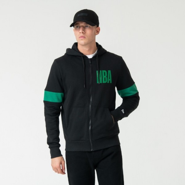 NEW ERA NBA Celtics Full Zip Hoody Black