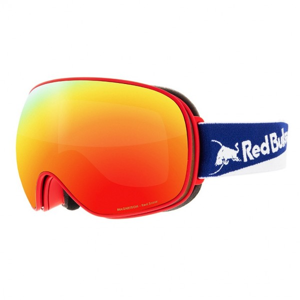 RED BULL SPECT Magnetron Skibrille Goggles Red / Red Snow Brown w Red Mirror MAGNETRON-021