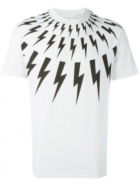 NEIL BARRETT Lightning Bolt Tee Slim Fit Herren T-Shirt PBJT108-E510S-526