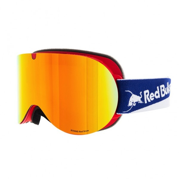 RED BULL SPECT Bonnie Skibrille Goggles Red / Red Snow Orange w Red Mirror BONNIE-010