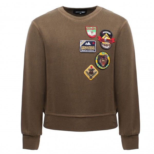 DSQUARED2 Mountaineers Sticker Sweater Kids
