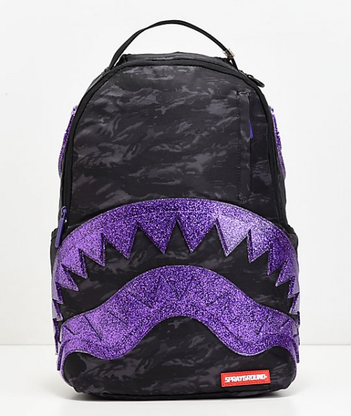SPRAYGROUND Glitter Shark Backpack Rucksack 910B1374PURPLE