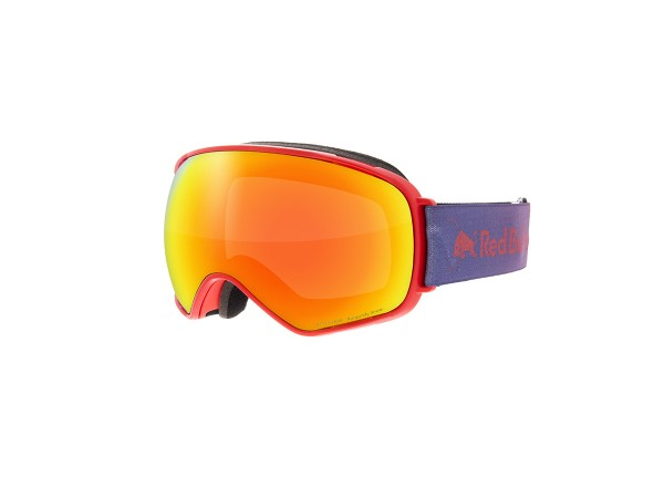 RED BULL SPECT AlleyOop Skibrille Goggles Red / Burgundy snow w Red mirror