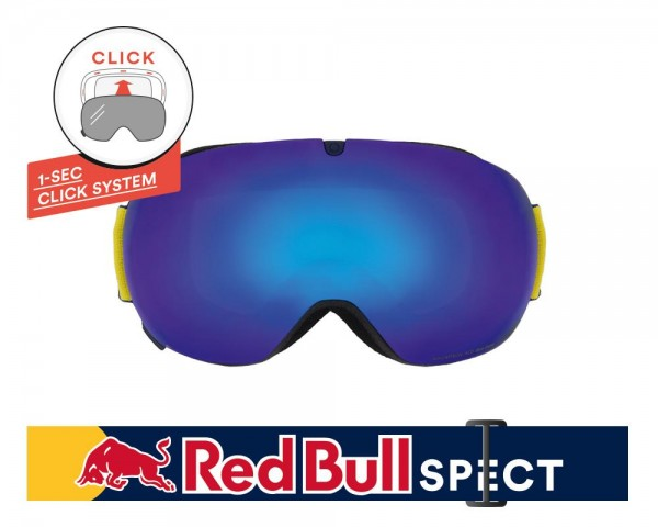 RED BULL SPECT Magnetron_Ace Skibrille Goggles Dark Blue / Blue Snow Smoke w Blue Mirror MAGNETRON_ACE-003
