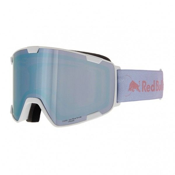 RED BULL SPECT Park Skibrille Goggles Matte White / Ice Blue Snow Red w Blue Mirror PARK-008