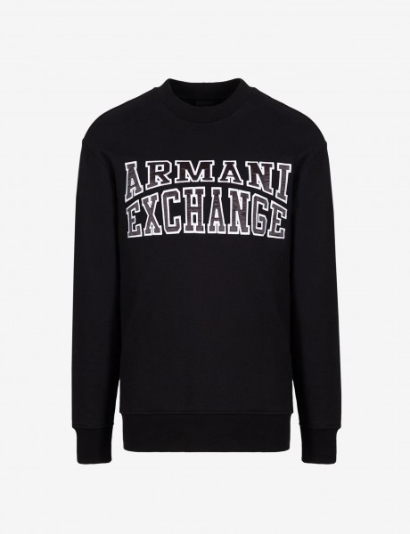 ARMANI EXCHANGE Crew Neck Logo Herren Sweatshirt Black