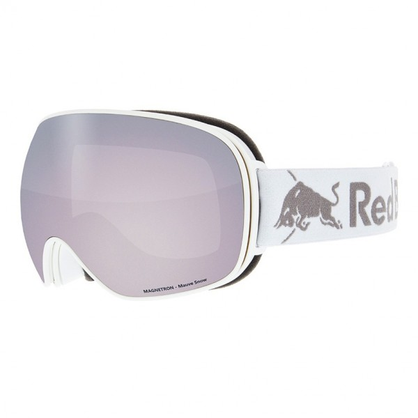 RED BULL SPECT Magnetron Skibrille Goggles White / Mauve Snow Red w Silver Flash MAGNETRON-020