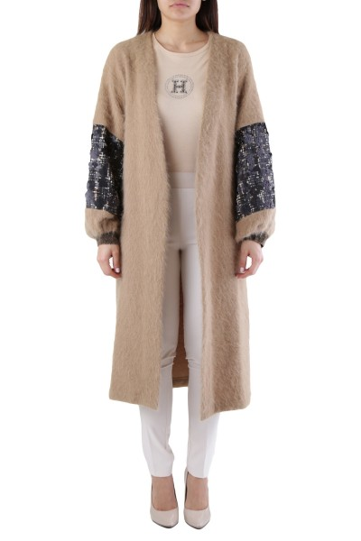 CRISTINA GAVIOLI Soft Knitted Women Coat Damen Mantel
