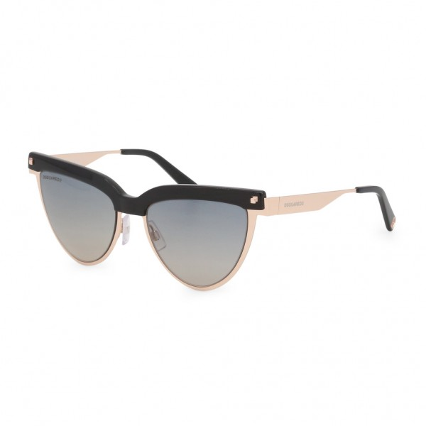 DSQUARED2 Sunglasses Damen Sonnenbrille Schwarz Gold