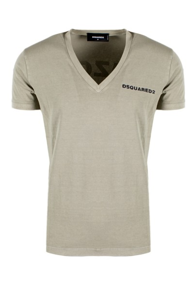 DSQUARED2 Arizona Print Tee Herren T-Shirt Beige