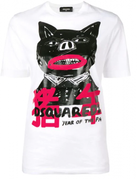 DSQUARED2 Year of the Pig Tee Damen T-Shirt