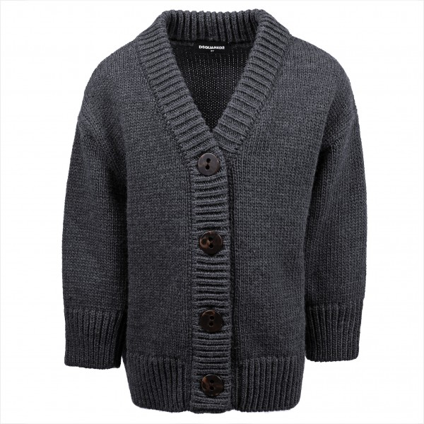 DSQUARED2 Knitted Cardigan Grey Kids