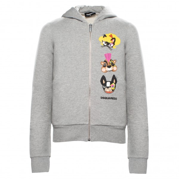DSQUARED2 Girls Comic Faces Hooded Jacket