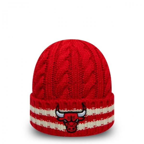 NEW ERA NBA Bulls Team Stripe Knit One Size