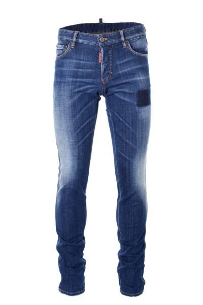 DSQUARED2 Faded Slim Denim Jeans Dark Blue Herren