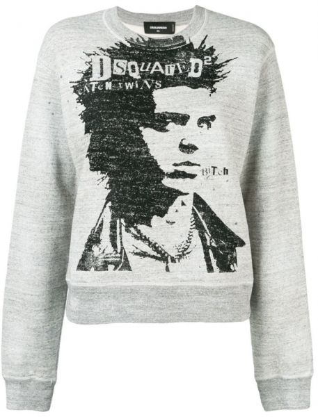 DSQUARED2 Caten Twins Print Sweater Damen Sweatshirt